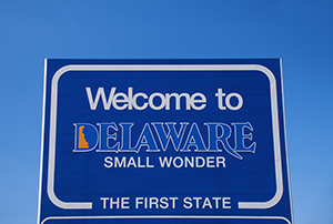 Delaware - Welcome Sign